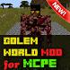 Golem World Mod for Minecraft by Gq mods studio