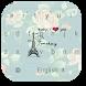 Pink Paris Keyboard by beautifulwallpaper