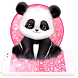 Pink Giant Panda Theme by stylish android themes