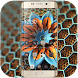 Golden flower luxurious noble wallpaper theme by Theme and keyboard design team
