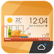 daily weather report clock by