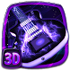 3D Acoustic Electric Guitar Theme by stylish android themes