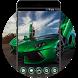 Cool Car Theme:Green Lamborghini Fancy Sportscar by Best theme store