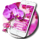 Orchid Flower Keyboard Theme by Ace Keyboard Theme