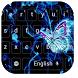 Neon Purple Butterfly Keyboard by beautifulwallpaper