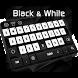 Black & White Keyboard by Keyboard Tema Designer