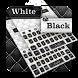 Black white leather keyboard by Echo Keyboard Theme