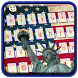 American Flag US keyboard by Super Keyboard Theme
