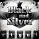 Black Silver Glitter Theme by Cheetah Keyboard Theme
