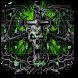 Green Dragon Skull Keyboard by livewallpaperjason