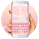 Pink lace wedding keyboard by Bestheme Keyboard Designer 3D &HD