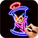Learn To Draw Glow Graffiti by Magic Touch Apps