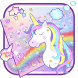 Rainbow Unicorn Keyboard Theme by Super Cool Keyboard Theme