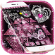 Pink Shiny Diamond Love Heart Glitter Theme by The Best Android Themes