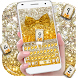 Gold glitter bowknot keyboard by Super Keyboard Theme