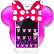 Black Minny Pink Bowknot Leopard Theme by Theme Designer Studio