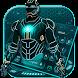 Blue Neon Hero Keyboard by Luxury Keyboard Theme