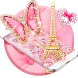 Pink Butterfly Eiffel Kitty Theme by Creative Design Theme