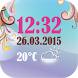 Weather Clock And Date Widget by The World of Digital Clocks