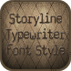 Storyline Typewriter FontStyle by Korean Fonts Free For You