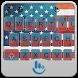 American Flag Keyboard Theme by Sexy Free Emoji Keyboard Theme