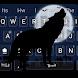 Cool Wolf Keyboard Theme by Pretty Cool Keyboard Theme