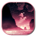 Pink Galaxy Keyboard Free by live wallpaper collection