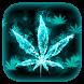 Weed Smoke Rasta ???? Blue Glow Keyboard Theme by Hello Keyboard Theme
