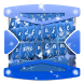 Blue Christmas Keyboard Theme by Gradient Themes