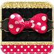 Pink Gold Bowknot by Theme Skin Emoji Andriod