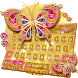 Golden Butterfly Keyboard Theme by Keyboard Design Yimo