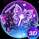 3D Smoke Butterfly Theme&Emoji Keyboard by Cool Keyboard Theme Design