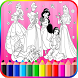 Coloring Book Princess by Coloring Games D