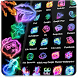 Neon Music Fire Theme by Cool Theme Love