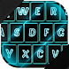Neon Blue Keyboard Theme by Cicmilic Soft