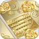 Gold Rose Keyboard Theme by hot keyboard themes