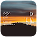 Clouds forest weather widget by Widget Dev Team