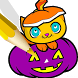 Halloween Book Coloring Pages by Baca Baca Games