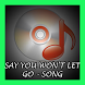 Say You Won't Let Go - Song by Sonic Star Entertainment