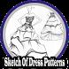 Sketch Of Dress Patterns by RayaAndro27