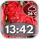 Roses Clock and Weather Widget by Cuteness Inc.