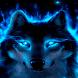 Blue Neon Wolf LWP by Daksh Apps