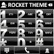 Theme Glossy Black RocketDial by Tak Team Studio