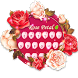 Romantic red rose flower by Hello Keyboard Theme