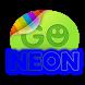 Blue neon theme GO SMS Pro by modo lab