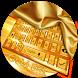 Gold Silk Neat Keyboard Theme by Pretty Cool Keyboard Theme