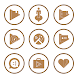 Brown On White Icons By Arjun Arora by Arjun Arora