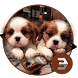 Cute Twins dog animal keyboard by Bestheme Keyboard Designer