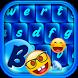 Blue Emoji Keyboard Themes by Customize My Phone