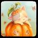 Pumpkin Kitten Live Wallpaper by Winterlight